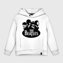 Толстовка оверсайз детская The Beatles Band цвета белый — фото 1
