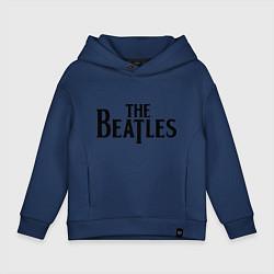 Толстовка оверсайз детская The Beatles цвета тёмно-синий — фото 1
