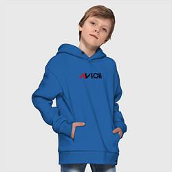 Толстовка оверсайз детская Avicii цвета синий — фото 2
