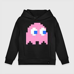 Толстовка оверсайз детская Pac-Man: Pinky цвета черный — фото 1