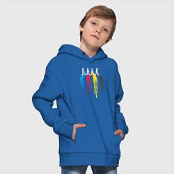 Толстовка оверсайз детская Abbey Road Colors цвета синий — фото 2