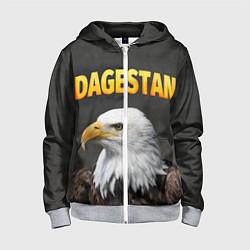 Толстовка на молнии детская Dagestan Eagle цвета 3D-меланж — фото 1