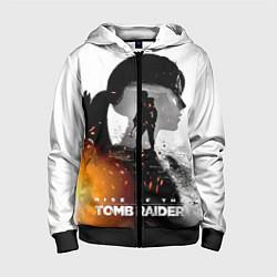 Толстовка на молнии детская Rise of the Tomb Raider 1 цвета 3D-черный — фото 1