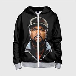 Толстовка на молнии детская Ice Cube цвета 3D-меланж — фото 1