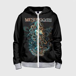 Толстовка на молнии детская Meshuggah: Violent Sleep цвета 3D-меланж — фото 1