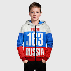 Толстовка на молнии детская Russia: from 163 цвета 3D-красный — фото 2
