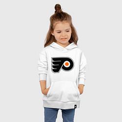 Толстовка детская хлопковая Philadelphia Flyers цвета белый — фото 2