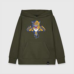 Толстовка детская хлопковая Florida Panthers цвета хаки — фото 1