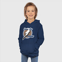 Толстовка детская хлопковая Tampa Bay цвета тёмно-синий — фото 2