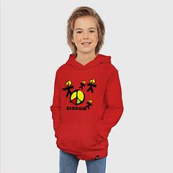 Толстовка детская хлопковая Olodum цвета красный — фото 2
