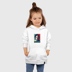 Толстовка детская хлопковая Lennon Imagine цвета белый — фото 2