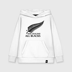 Толстовка детская хлопковая New Zeland: All blacks цвета белый — фото 1