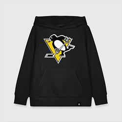 Толстовка детская хлопковая Pittsburgh Penguins цвета черный — фото 1