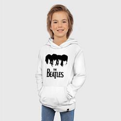 Толстовка детская хлопковая The Beatles: Faces цвета белый — фото 2