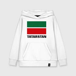 Толстовка детская хлопковая Флаг Татарстана цвета белый — фото 1