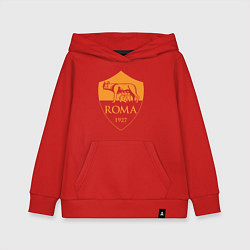 Толстовка детская хлопковая AS Roma: Autumn Top цвета красный — фото 1