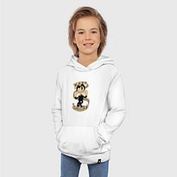 Толстовка детская хлопковая Bendy: Keep Smiling цвета белый — фото 2