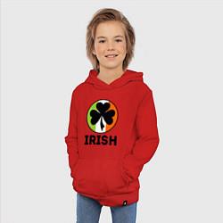 Толстовка детская хлопковая Irish - цвет флага цвета красный — фото 2