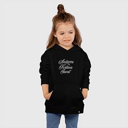 Толстовка детская хлопковая Audaces Fortuna Juvat цвета черный — фото 2