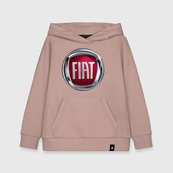 Толстовка детская хлопковая FIAT logo цвета пыльно-розовый — фото 1
