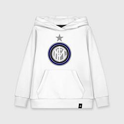 Толстовка детская хлопковая Inter FC цвета белый — фото 1