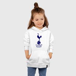 Толстовка детская хлопковая Tottenham FC цвета белый — фото 2