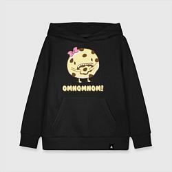 Толстовка детская хлопковая Cake: Omnomnom! цвета черный — фото 1
