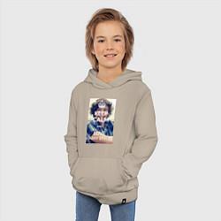 Толстовка детская хлопковая Keep Calm & Love Harry Styles цвета миндальный — фото 2
