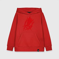 Толстовка детская хлопковая Пламенная птица цвета красный — фото 1