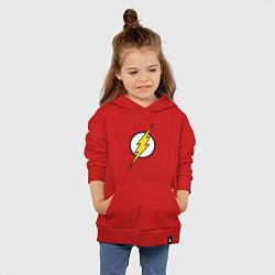 Толстовка детская хлопковая Flash цвета красный — фото 2