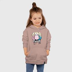 Толстовка детская хлопковая Puddin' цвета пыльно-розовый — фото 2