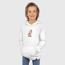 Толстовка детская хлопковая LIKEE: Like Video цвета белый — фото 2