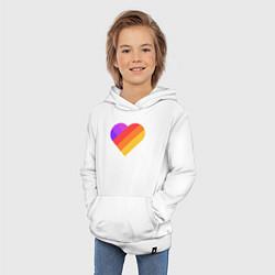 Детская хлопковая толстовка с принтом Likee Queen, цвет: белый, артикул: 10201353706029 — фото 2