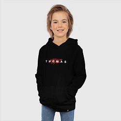 Толстовка детская хлопковая Thomas Mraz цвета черный — фото 2