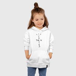 Толстовка детская хлопковая TRAVIS SCOTT цвета белый — фото 2