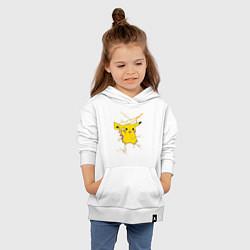 Толстовка детская хлопковая Pikachu цвета белый — фото 2