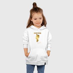 Толстовка детская хлопковая Billie Eilish автограф цвета белый — фото 2