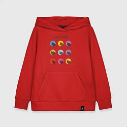 Толстовка детская хлопковая Flat Adobe цвета красный — фото 1