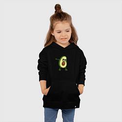 Толстовка детская хлопковая Авокадо дэб цвета черный — фото 2