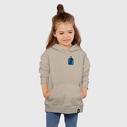Толстовка детская хлопковая SLAVA MARLOW цвета миндальный — фото 2