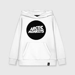 Толстовка детская хлопковая Arctic Monkeys Round цвета белый — фото 1