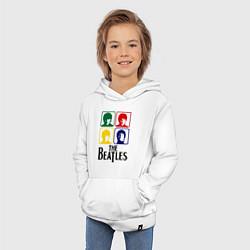 Толстовка детская хлопковая The Beatles: Colors цвета белый — фото 2