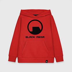 Толстовка детская хлопковая Black Mesa: Logo цвета красный — фото 1