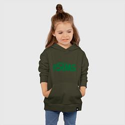 Толстовка детская хлопковая Sims цвета хаки — фото 2