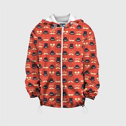 Куртка с капюшоном детская Хипстер 4 цвета 3D-белый — фото 1