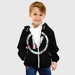 Детская 3D-куртка с капюшоном с принтом 21 Pilots: Symbol, цвет: 3D-белый, артикул: 10105818205458 — фото 2