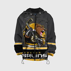 Куртка с капюшоном детская Boston Bruins цвета 3D-черный — фото 1
