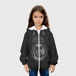 Детская 3D-куртка с капюшоном с принтом Real Madrid, цвет: 3D-белый, артикул: 10109758705458 — фото 2