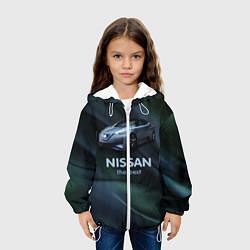 Детская 3D-куртка с капюшоном с принтом Nissan the best, цвет: 3D-белый, артикул: 10111121905458 — фото 2
