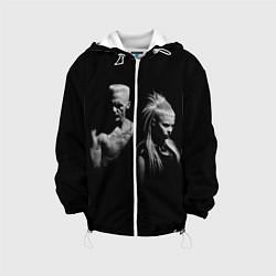 Детская 3D-куртка с капюшоном с принтом Die Antwoord: Black, цвет: 3D-белый, артикул: 10112002405458 — фото 1